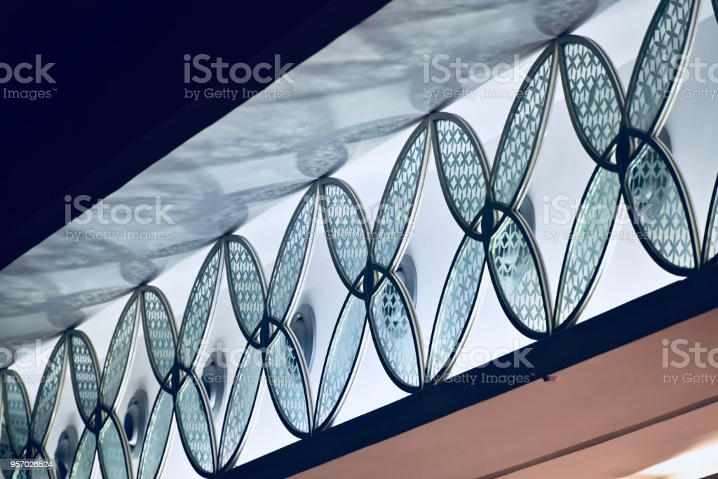 Stylish glass made interior ceiling design unique photo royalty-free stock photo