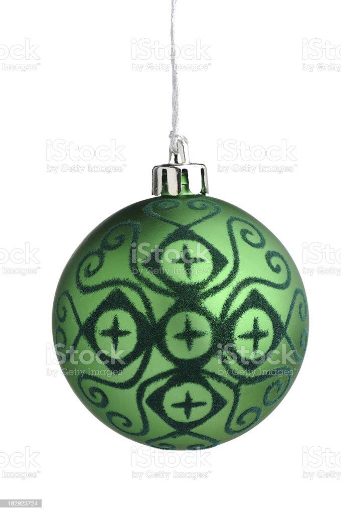 Stylish green bauble royalty-free stock photo