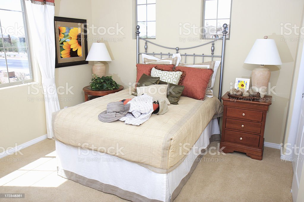 Stylish Guest Bedroom royalty-free stock photo