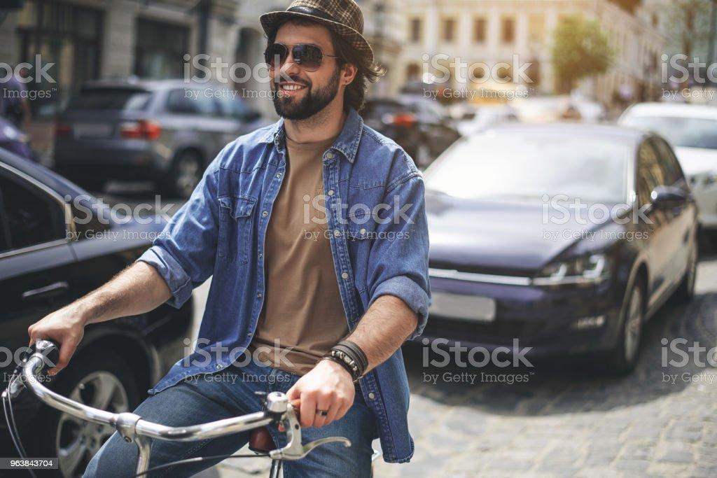 Stylish guy enjoying active sport - Royalty-free Adult Stock Photo