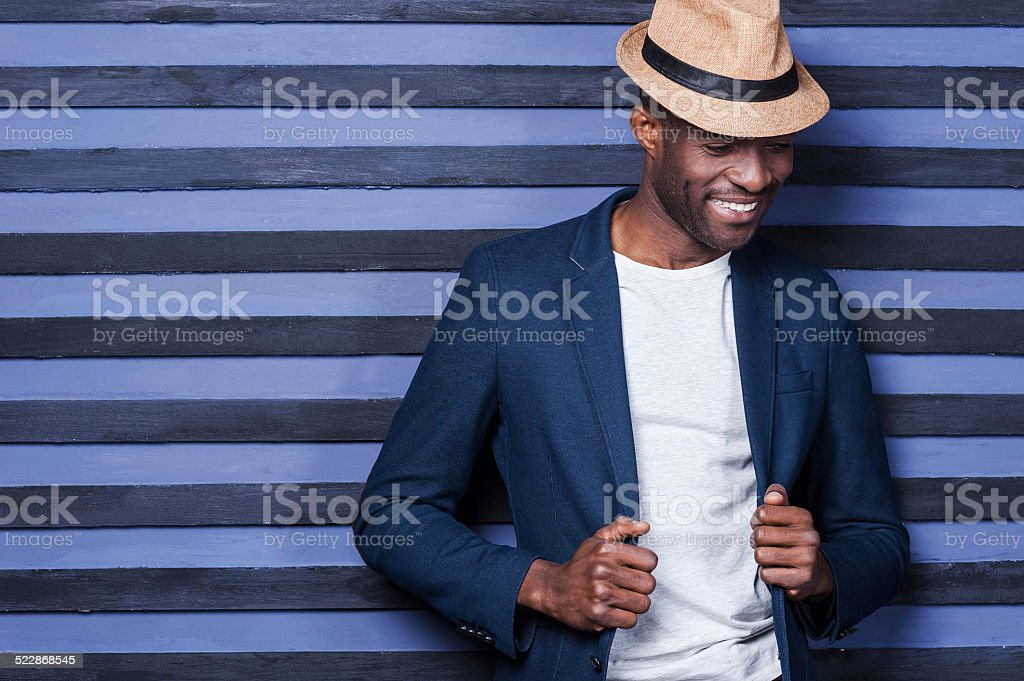 Stylish handsome. stock photo