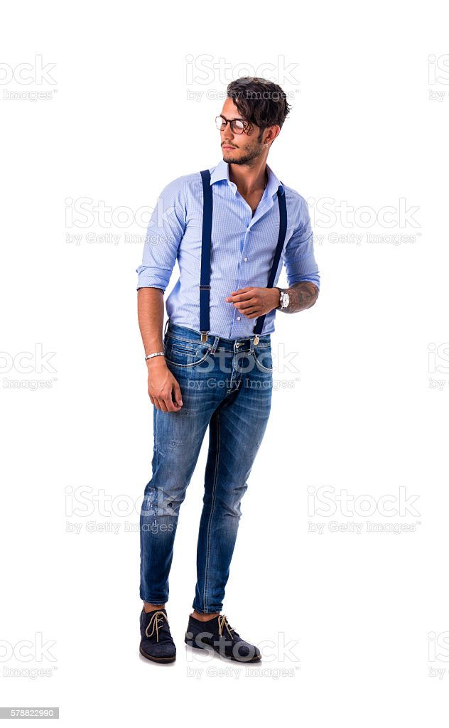 Stylish handsome young man in studio shot - Photo