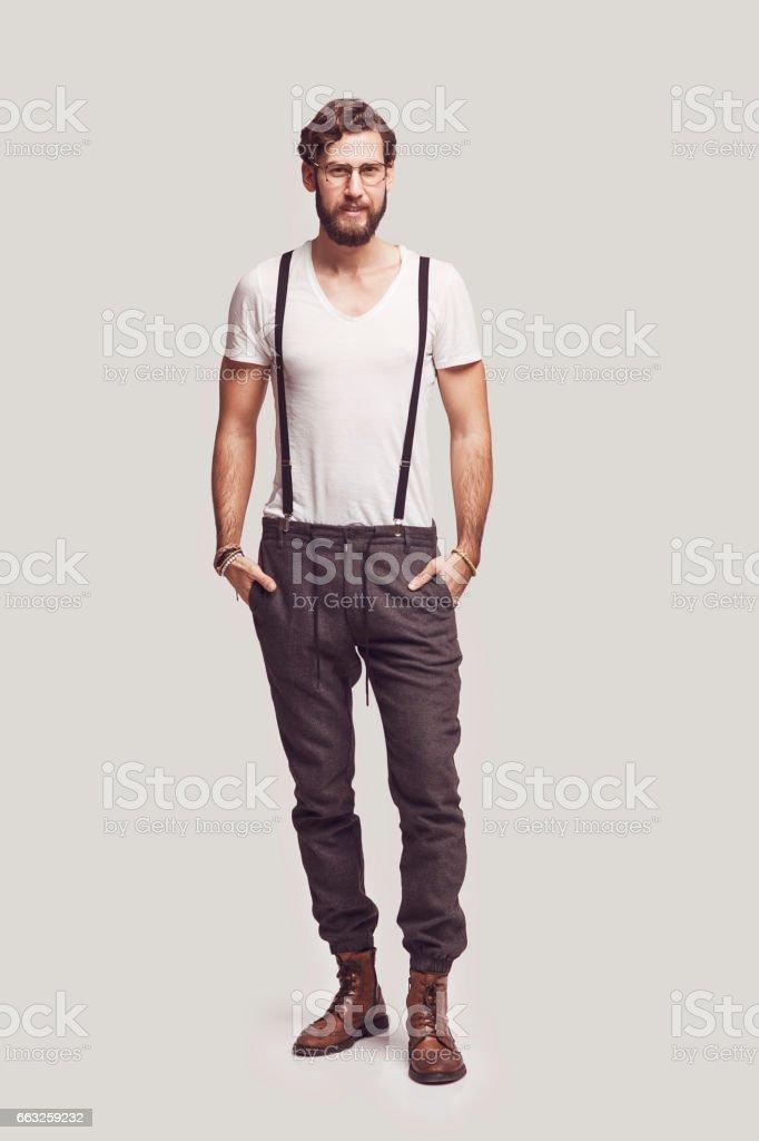 Homme DE hipster élégant - Photo