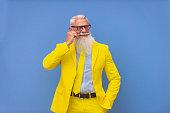 istock Stylish hipster senior man 1183150649