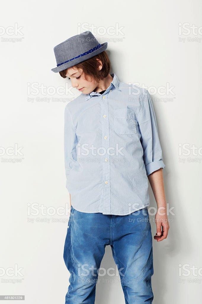 Stylish in blue stock photo