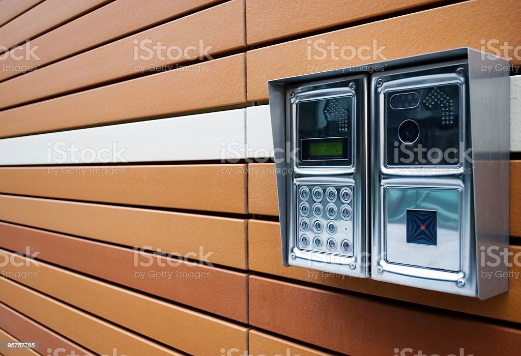 Stylish Intercom stock photo