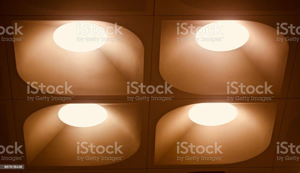 Stylish interior ceiling lights isolated background photo stock photo