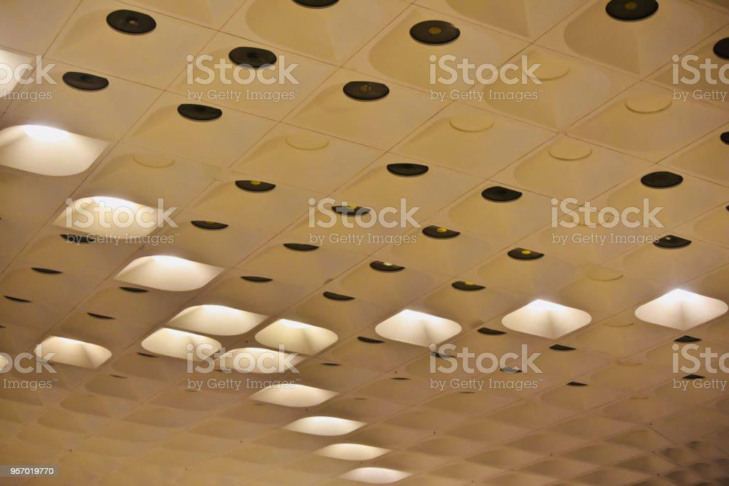 Stylish interior ceiling lights isolated unique photo stock photo