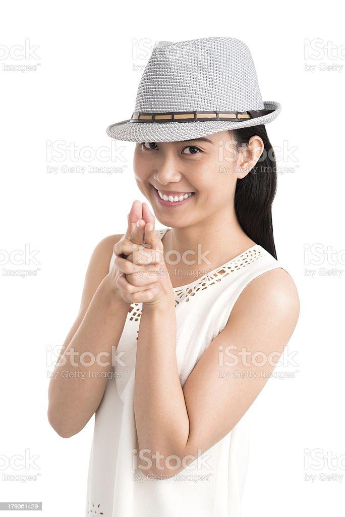 Stylish lady royalty-free stock photo