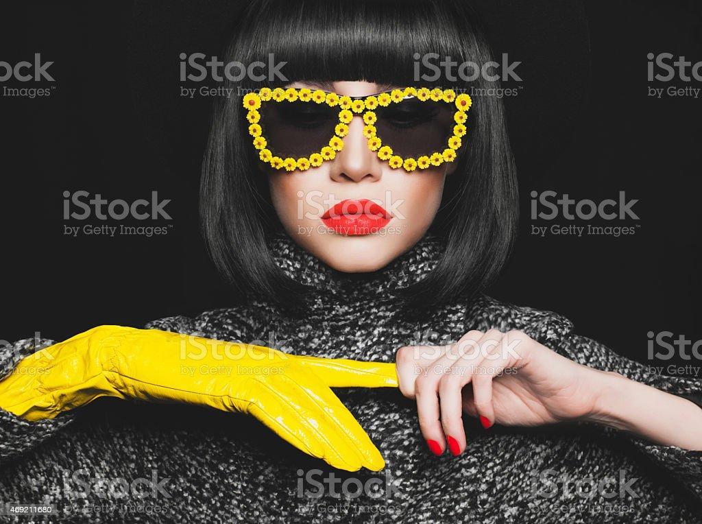 Stylish lady stock photo