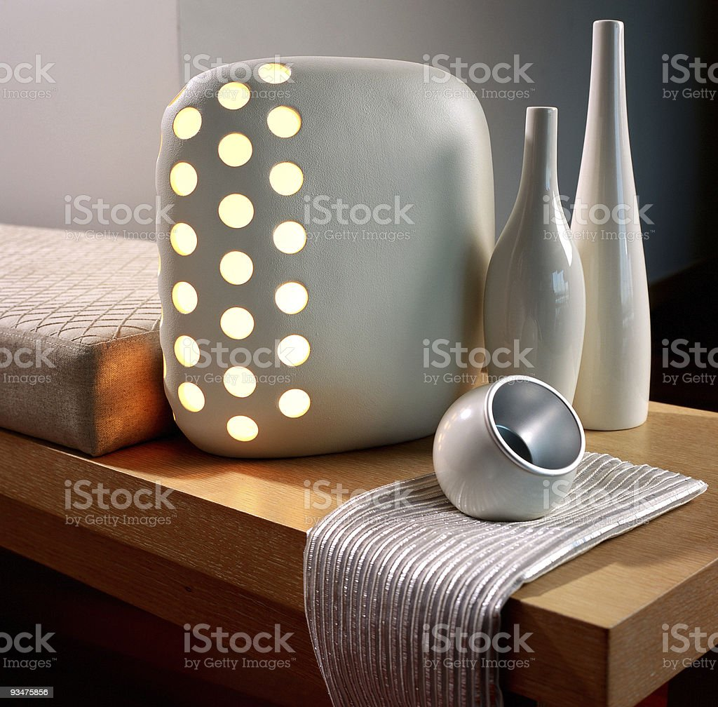 Stylish lamp on a table royalty-free stock photo