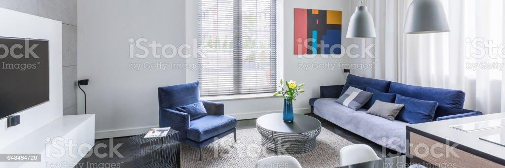 Stylish living room design stock photo