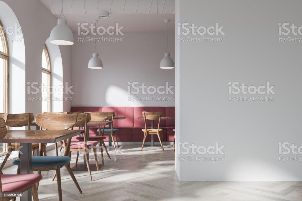 Stylish Loft Bar Corner Red Sofa Mock Up Wall Stock Photo Download Image Now Istock