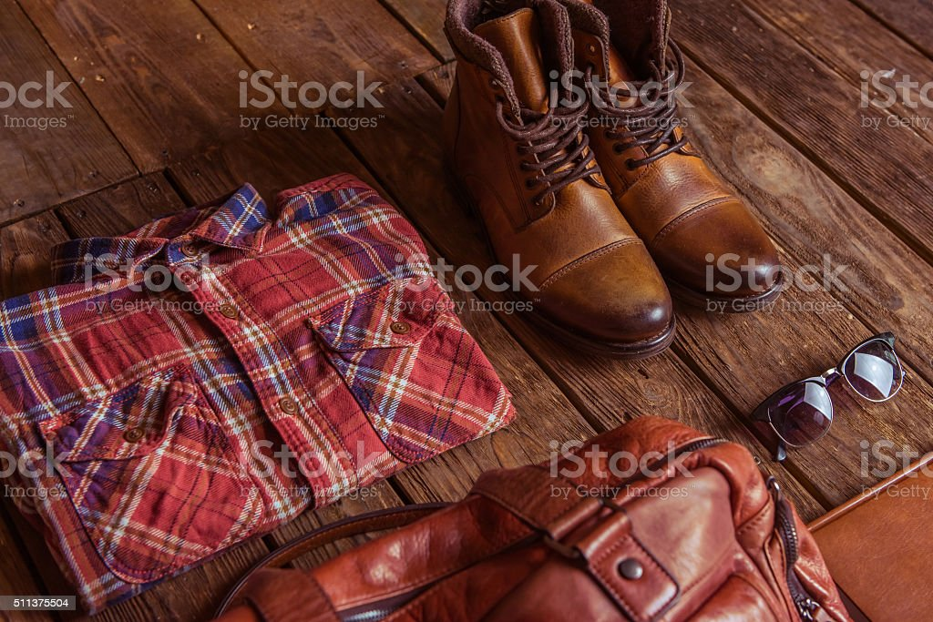 Stylish man accessories stock photo