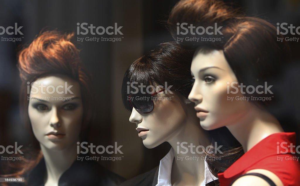 Stylish Mannequins royalty-free stock photo