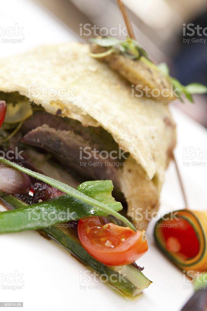 Stylish meat kebab royalty-free stock photo