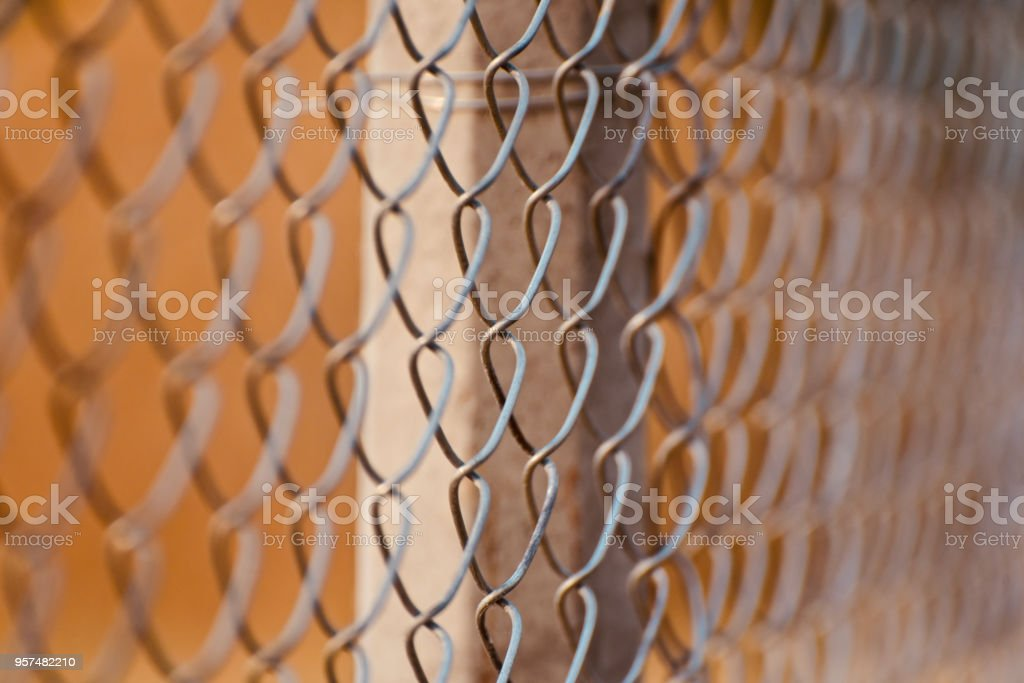 Stylish metallic protection grill unique photo royalty-free stock photo