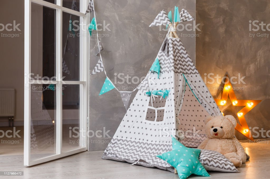 Stilvolle Moderne Kinderzimmer Kid Es Wigwam Im Kinderzimmer ...