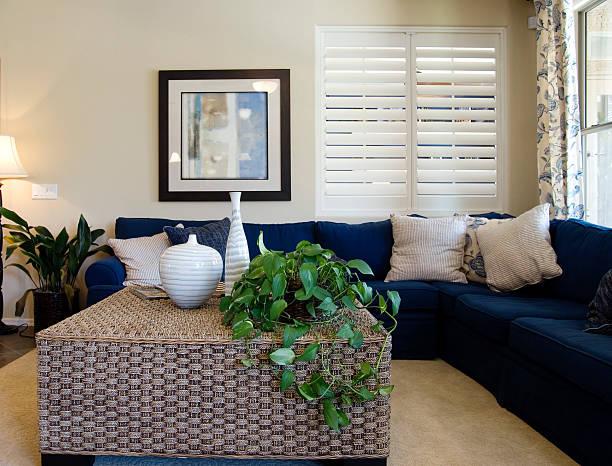 Elegante nuovo soggiorno - foto stock