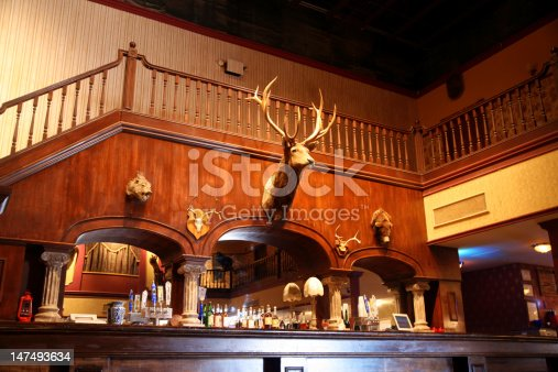 istock stylish night bar with retro decor 147493634