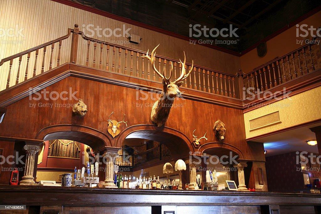 stylish night bar with retro decor foto