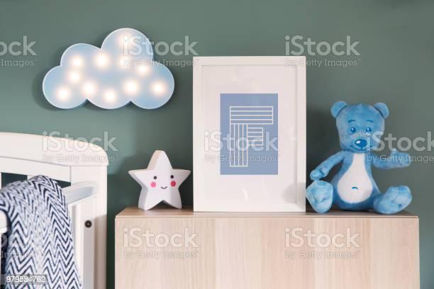 Stylish nursery interior with mock up photo frame teddy bear star and picture id979584762?b=1&k=6&m=979584762&s=612x612&h=sekunjtpahmmxbdiz7e928tgeuuhtnxvcib09htaf0y=