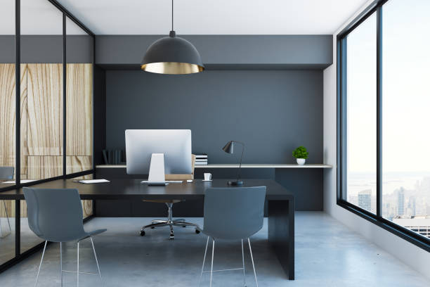 Stylish office interior stock photo