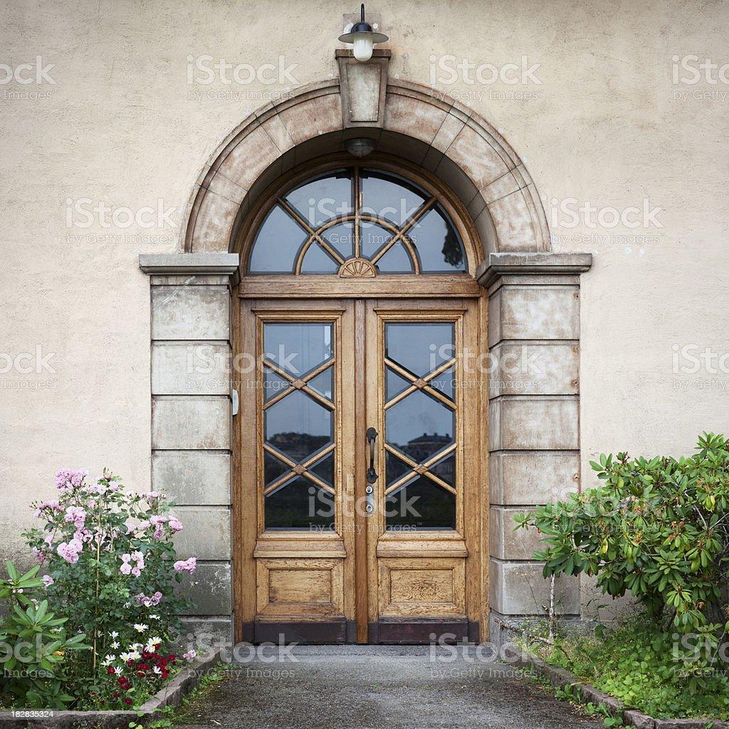 Stylish old entrance royalty-free stock photo