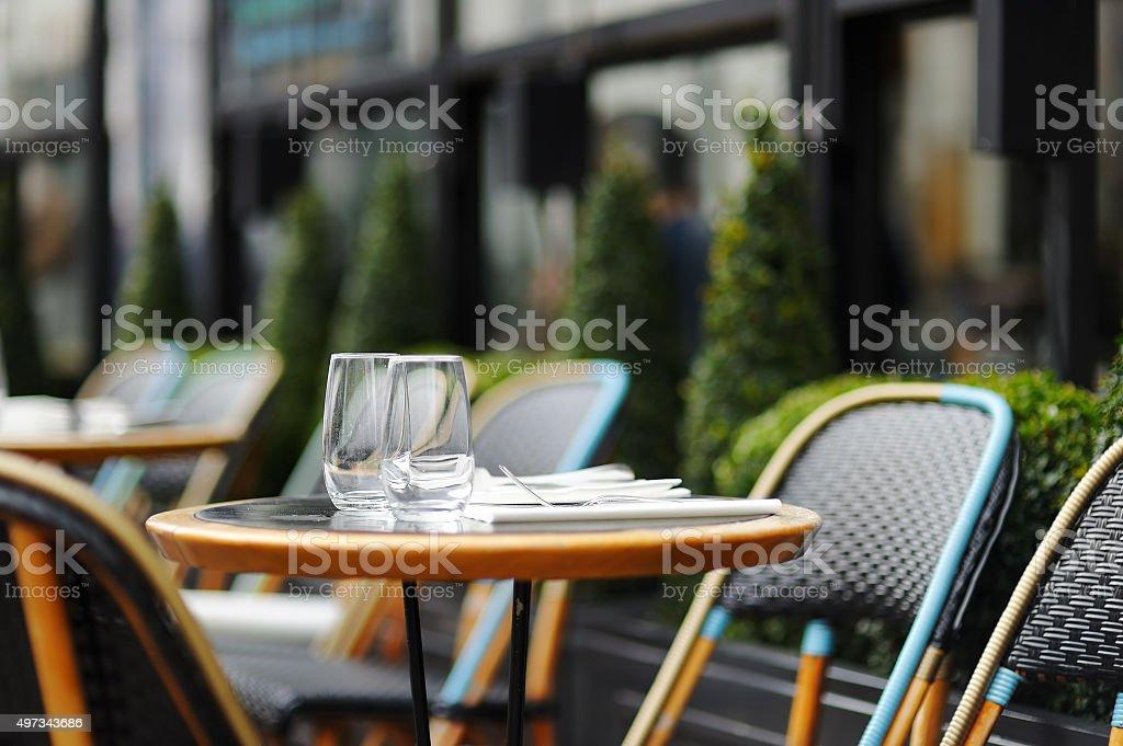 Stylish outdoor cafe stock photo