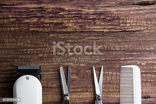 istock Stylish Professional Barber Clippers, Hair Clippers,  Hair sciss 629585428