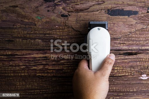 1041901666istockphoto Stylish Professional Barber Clippers, Hair Clippers, Haircut acc 629584678