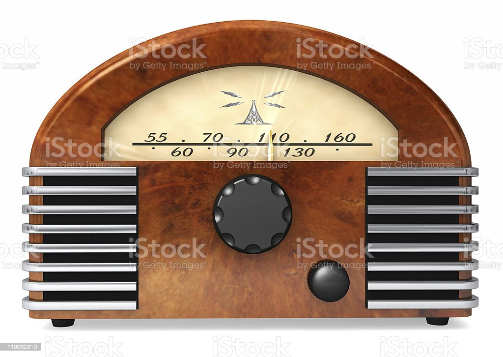 Stylish Radio from the past stock photo