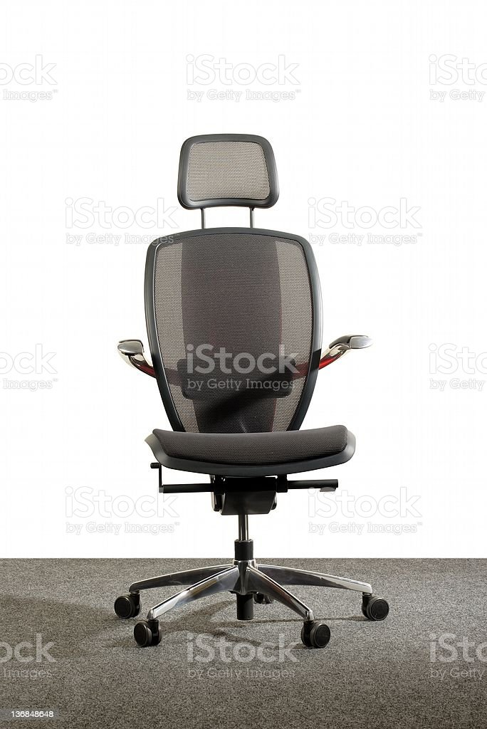 stylish red and gray office chair royalty-free stock photo