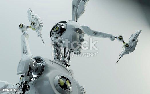 istock Stylish robot assemble 153270378