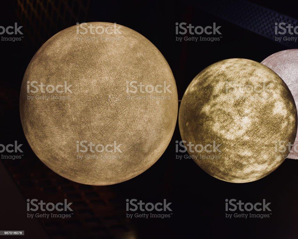 Stylish round shape interior object stock photograph stock photo