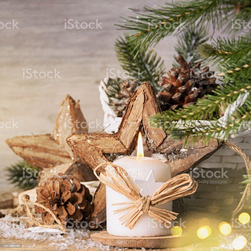 Stilvolle Rustikale Weihnachten Hintergrund Stock-Fotografie und ...