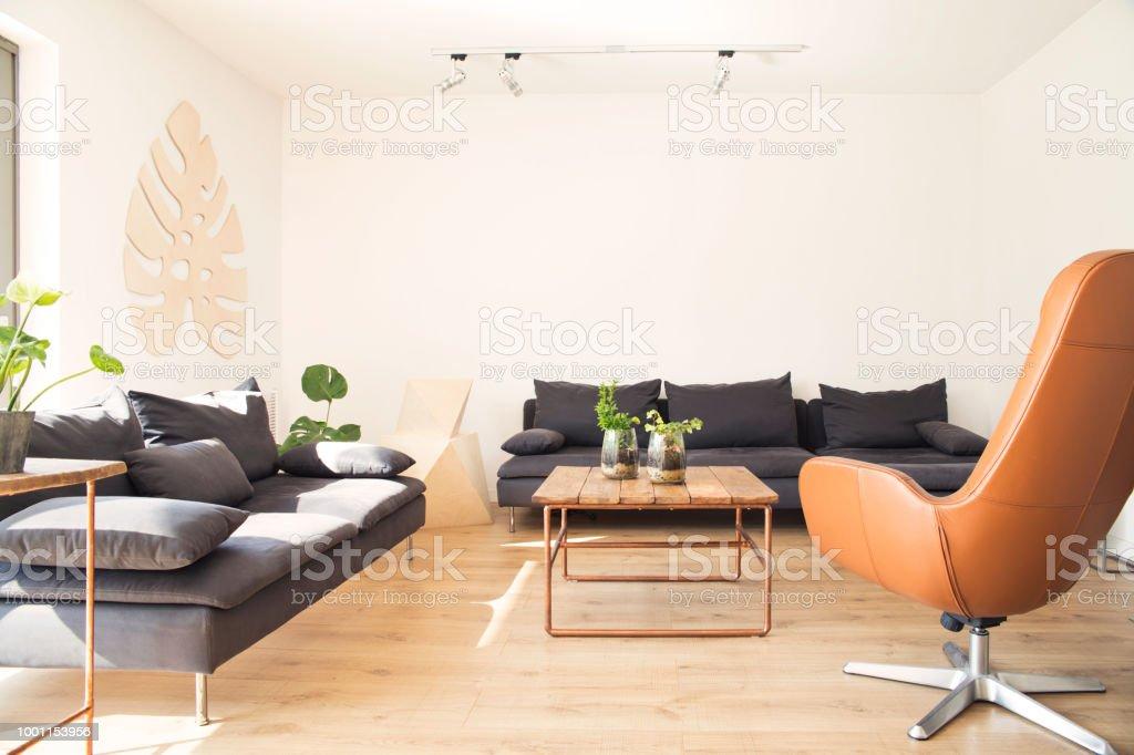 Stilvolle Skandinavischen Interieur Design Sofa Tisch Aus ...