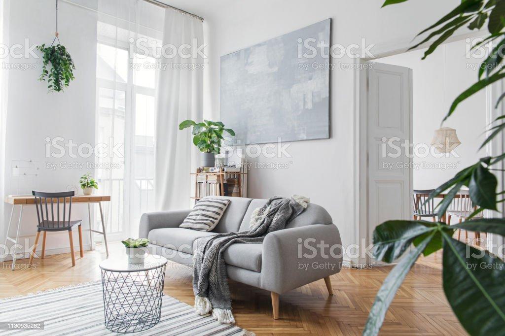 Photo Libre De Droit De élégant Salon Scandinave Avec