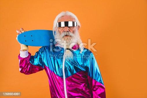 istock Stylish senior man portrait 1268654991