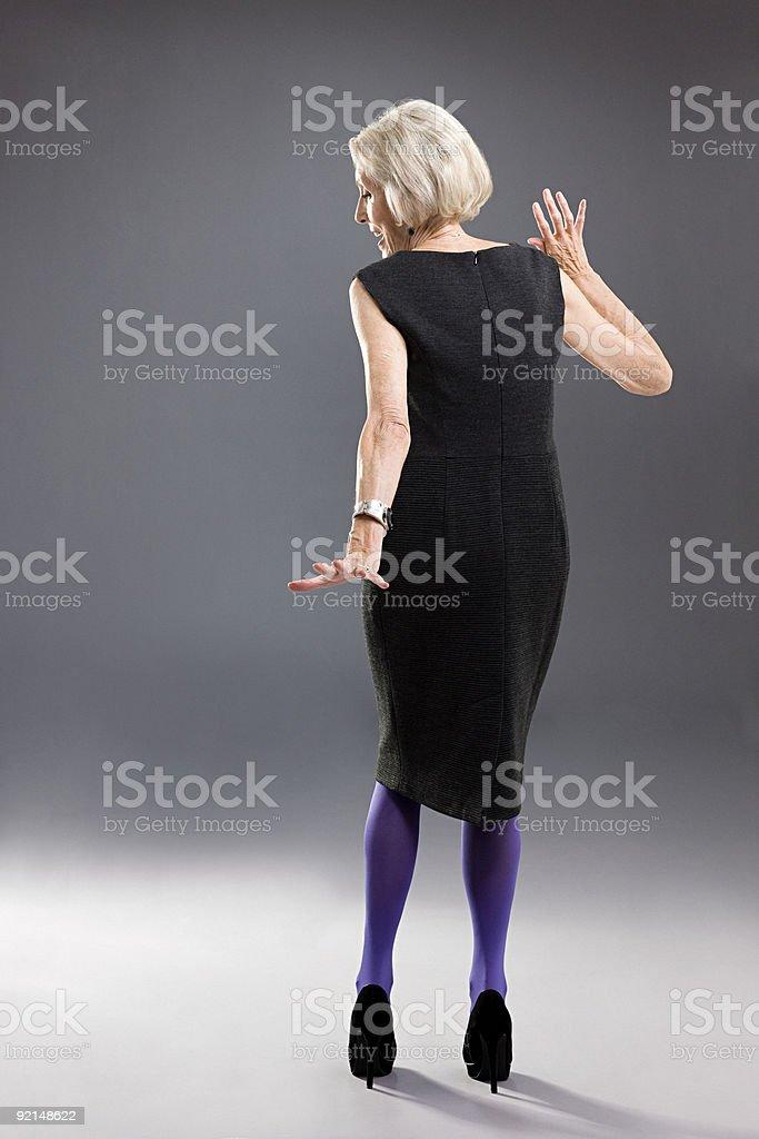 Elegante senior Frau – Foto