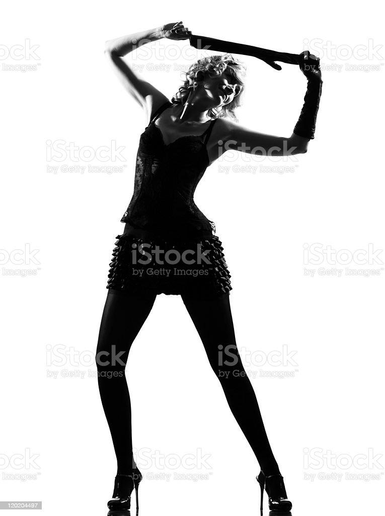 stylish silhouette woman stock photo