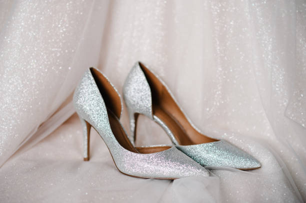 745 Silver Bridal Shoes Stock Photos Pictures Royalty Free Images Istock