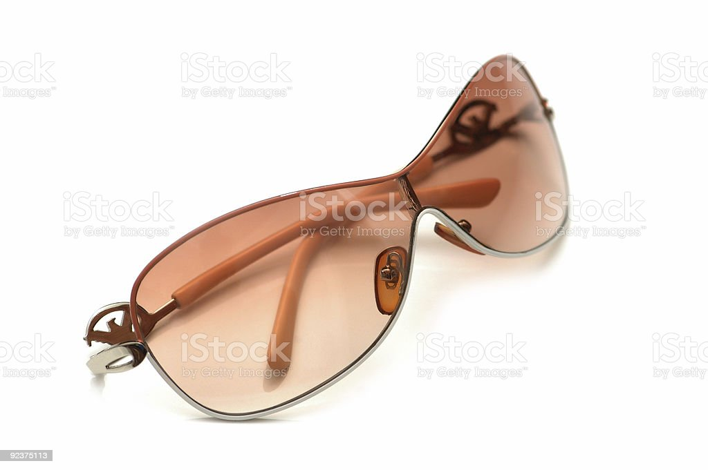 Stylish sunglasses isolated on the white background royalty-free stock photo