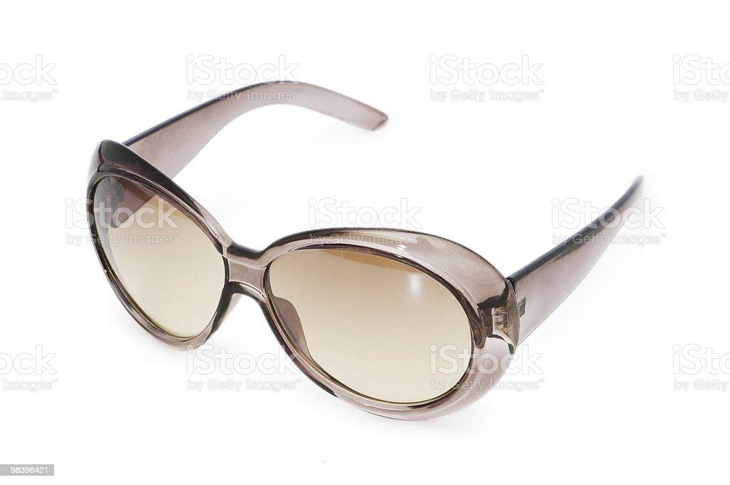 Stylish sunglasses isolated on the white background royalty-free stock photo