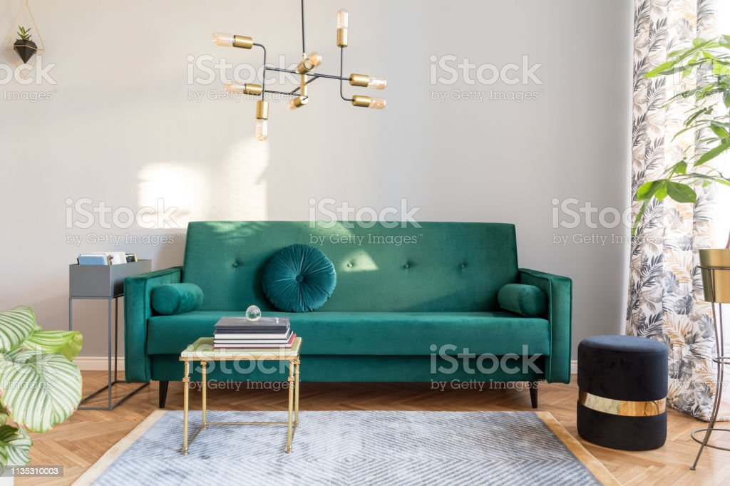 Admirable Stylish Sunny Decor Of Living Room With Design Green Velvet Gmtry Best Dining Table And Chair Ideas Images Gmtryco