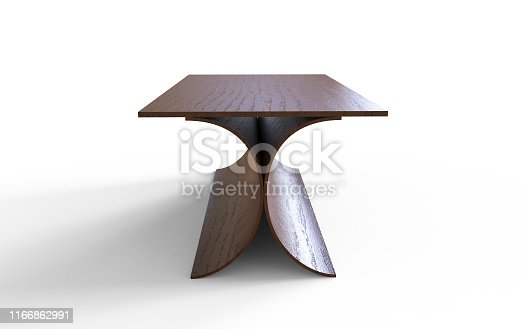 istock Stylish table 3d illustration on a white background 1166862991