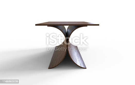 istock Stylish table 3d illustration on a white background 1166863039