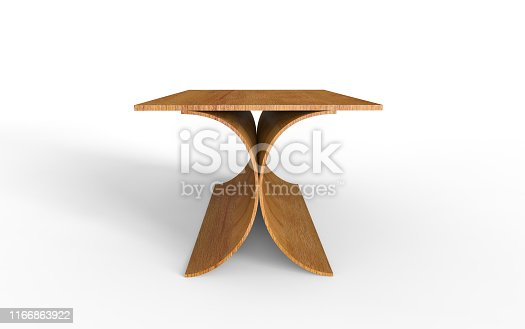 istock Stylish table 3d illustration on a white background 1166863922