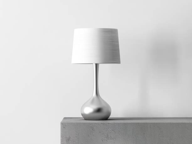 stylowa lampa stołowa w białym pokoju - lampa elektryczna zdjęcia i obrazy z banku zdjęć
