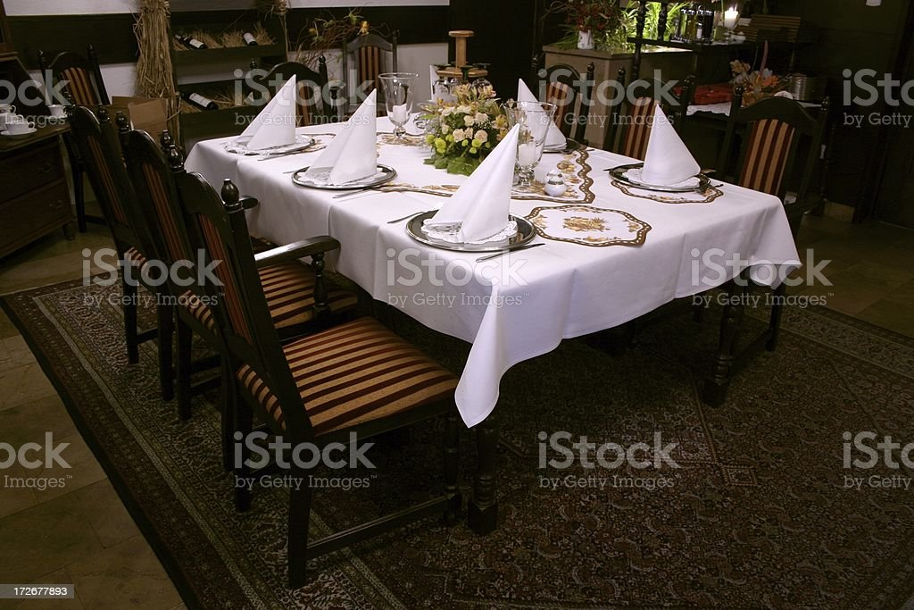 stylish table royalty-free stock photo